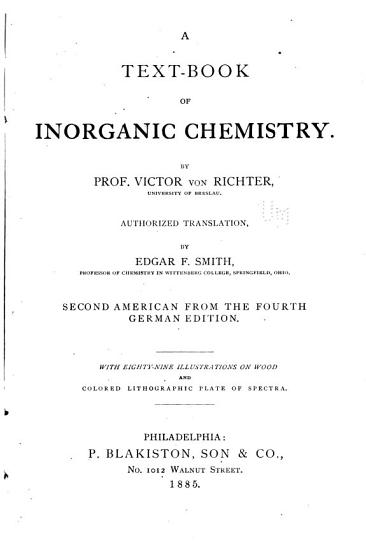 A Text book of Inorganic Chemistry PDF