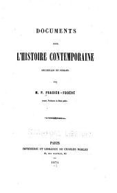 Documents pour l'histoire contemporaine