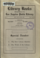 Library Books: Monthly Bulletin of the Los Angeles Public Library, Volume 9, Issues 5-6