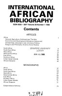 International African Bibliography PDF