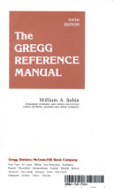 The Gregg Reference Manual   William A
