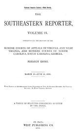 The Southeastern Reporter: Volume 21