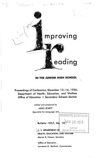 Improving Reading in the Junior High School PDF