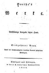 Goethes Werke: Vollständige Ausgabe letzter Hand ...
