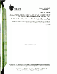 Characterization and Dynamics of Air Pollutants in the Southeastern Mexico U S  Border Area PDF