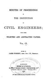 Minutes of Proceedings of the Institution of Civil Engineers: Volume 101
