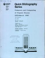 Composts and Composting of Organic Wastes  1979 March 1987 PDF