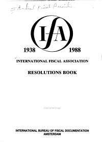 Resolutions Book