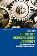 Kritik Der Okonomischen Vernunft