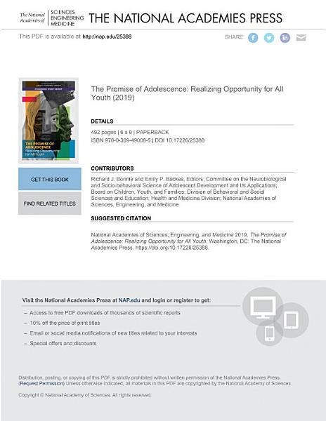 Download The Promise of Adolescence Book