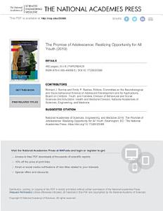 The Promise of Adolescence Book