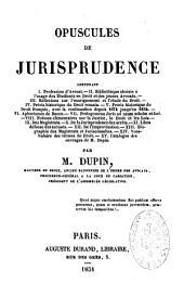 Opuscules de jurisprudence
