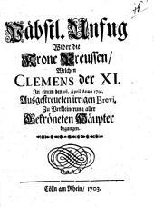 Päbstlicher Unfug wider die Krone Preussen
