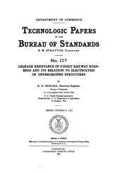 Technologic Papers of the Bureau of Standards: Issues 126-145