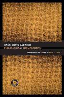 Philosophical Hermeneutics PDF