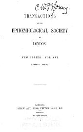 Transactions of the Epidemiological Society of London ...: Volume 3; Volume 16
