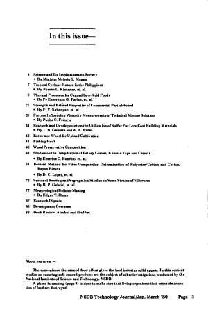 NSDB Technology Journal
