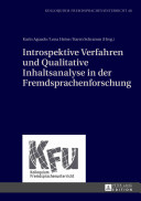 Introspektive Verfahren Und Qualitative Inhaltsanalyse in Der Fremdsprachenforschung PDF