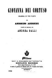 Giovanna dei Cortuso: dramma in tre parti