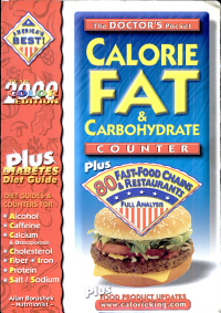 Pocket Calorie Fat   Carbohydrate Counter