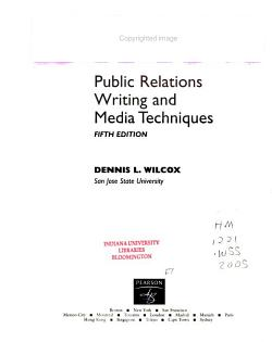 Public Relations Writing and Media Techniques PDF
