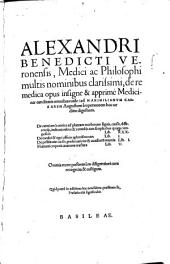 De re medica opus isigne & apprimè Medicinæ canditatis omnibus utile