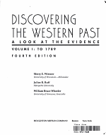Discovering the Western Past  To 1789 PDF