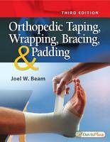 Orthopedic Taping  Wrapping  Bracing    Padding PDF