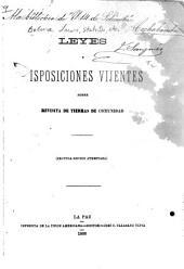 Leyes y disposiciones vijentes sobre revisita de tierras de comenidad