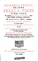 Hugonis Grotii De jure belli ac pacis libri tres     PDF