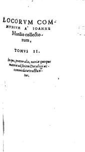 Locorum communium collectanea: Volume 2