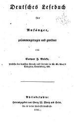 Deutsches Lesebuch F R Anf Nger