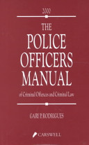 The Police Officers Manual of Criminal Offences and Criminal Law PDF