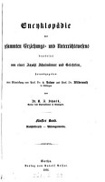 Encyclop  die des gesammten Erziehungs  und Unterrichtswesens  herausg  von K  A  Schmid PDF
