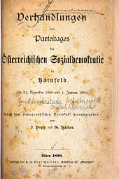 Verhandlungen des Parteitages der österreichischen Sozialdemokratie
