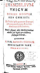 Evangelium unicum Domini Nostri Jesu Christi
