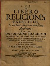 De Libero Religionis Exercitio