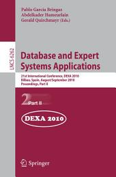 Database and Expert Systems Applications: 21st International Conference, DEXA 2010, Bilbao, Spain, August 30 - September 3, 2010, Proceedings, Part 2