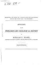 Description of the Fossils and Shells Collected in California by William P. Blake, Geologist of the United States Pacific Railroad Survey in California, Under the Command of Lieut. R.S. Williamson, in 1853-54