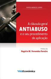 A cláusula geral antiabuso e o seu procedimento de aplicação