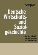 Deutsche Wirtschafts  und Sozialgeschichte PDF