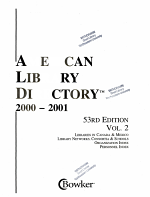 American Library Directory, 2000-2001