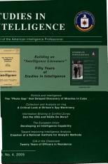 Studies in Intelligence PDF
