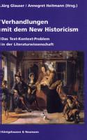 Verhandlungen mit dem New Historicism PDF