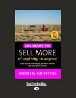 101 Ways to Sell More of Anything to Anyone PDF