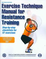 Exercise Technique Manual for Resistance Training  2E PDF