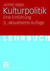 Kulturpolitik: Eine Einführung, Ausgabe 3