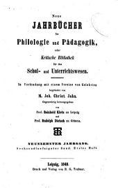 Jahnscher Jahrbücher für Philologie und Paedagogik: Band 56