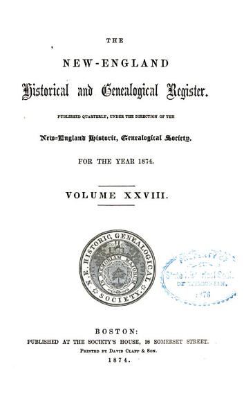 Download The New England Historical and Genealogical Register Book