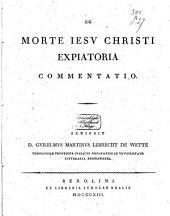 De morte Jesu Christi expiatoria commentatio